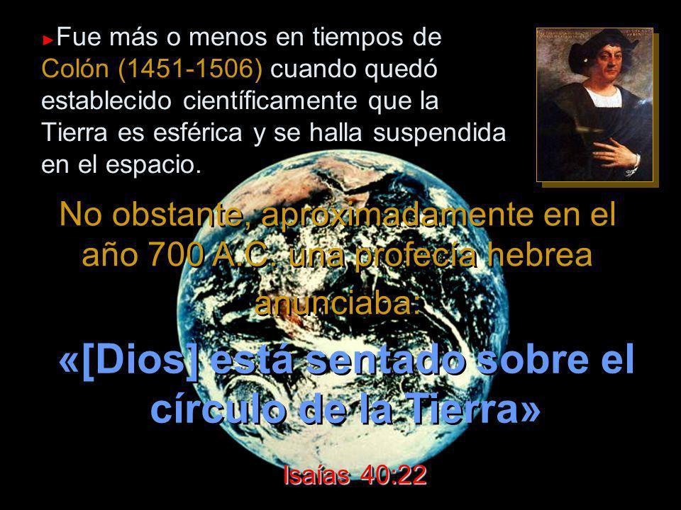 «[Dios] está sentado sobre el círculo de la Tierra»